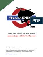 TravelPUNK Backpacker Student Budget Travel Tips eBook