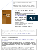 The Journal of North African Studies Volume 17 Issue 3 2012 [Doi 10.1080_13629387.2012.671996] Zambakari, Christopher -- South Sudan- Institutional Legacy of Colonialism and the Making of a New State