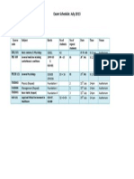 exam timetable - july - updated on 08 07 13