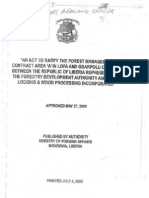 "An Act to Ratify the Forest Management Contract Area ""A"" in Lofa and Gbarpolu Counties Between the Republic of Liberia Represented by the Forestry Development Authority and Alpha Logging & Wooding Processing Incorporated"