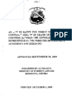 """An Act to Ratify the Forest management Contract Area """"I"""" in Grand Gedeh & Sinoe Counties Between the Republic of Liberia represented By The Forestry development Authority and Geblo, Inc"""