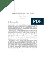 Black-Scholes Option Pricing Model