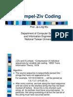Data Compression Lempel-Ziv Coding