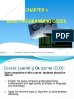 Chapter 4 - Basic Programming Codes