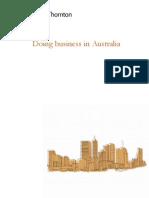 Doing Business Guide in Australia