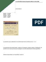 Programa Para Transformacion de Datum Del Instituto Geografico Militar de Chile Igm