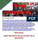 Noticias Uruguayas Lunes 8 de Julio Del 2013