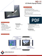 MD-15 | Caltron 15 Inch LCD Media Signage Playback System