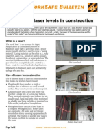 Dangers of Laser Levels in Construction