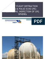 Time of Flight Diffraction (Tofd) & Pulse Echo (Pe) Ultrasonic Inspection of Lpg Spheres
