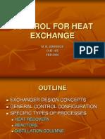 Control for Heat Exchange