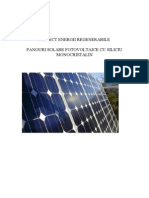 Panouri Solare Fotovoltaice Siliciu Monocristalin