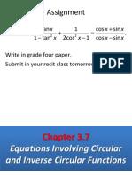 Equations Involving Circular Functions