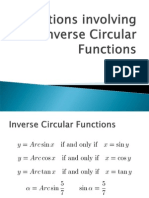 Equations Involving Inverse Circular Functions
