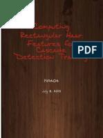 Computing Rectangular Haar Features for Cascade Detection Training