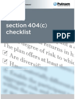 ERISA Section 404(c) Checklist