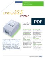 Epson TM-U325 Validation and Receipt Printer Brochure