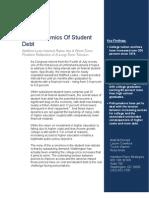 The Economics of Student Debt