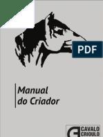 Cavalo Crioulo - Manual Criador Abccc