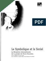 Sommaire Et Entretien PB - Le Symbolique Et Le Social