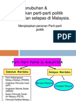 Penubuhan & Pembentukan Parti-parti Politik Sebelum Dan Selepas Di Malaysia