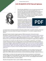 01-SI PUO ́ ESSERE FELICI IN QUESTA VITA Baruch Spinoza dice di si