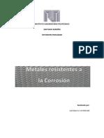 Metales Resistentes a La Corrosion
