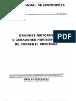 Grandes Motores e Geradores Horizontais de Corrente Contínua