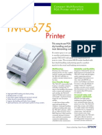 Epson TM-U675 Printer with MICR Brochure