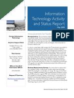 May 2009 Status Report