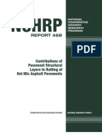 Contributions of PavementStructural Layers to Rutting of Hot Mix Asphalt Pavements