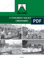 Ideario propuesto para el I Congreso Nacional Ordinario de Tierra y Libertad