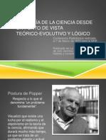 Popper La Teoría desde la ciencia desde un punto de vista Teórico,Evolutivo y Lógico