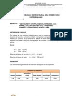 MEMORIA DE CÁLCULO ESTRUCTURAL DEL RESERVORIO RECTANGULAR