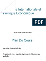 Economie Internationale Et Politique Economique
