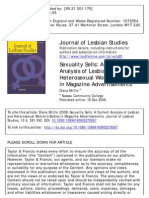 A Content Analysis of Lesbian and Heterosexual Women's Bodies in Magazine Advertisements