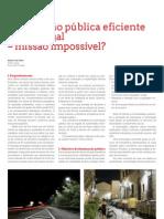 Iluminação pública eficiente em Portugal - missão impossível?