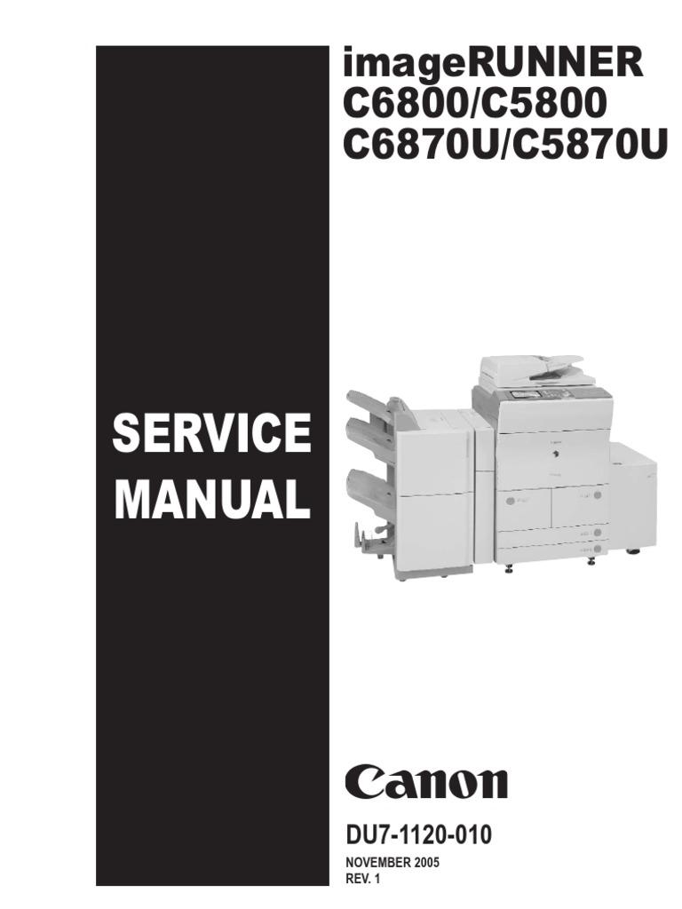 imageRUNNER_C6870_5870_SM_DU7-1120-010 | Image Scanner | Signal (Electrical  Engineering)