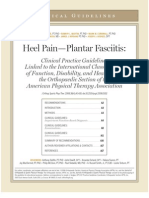 Plantar Fasciitis Guidelines