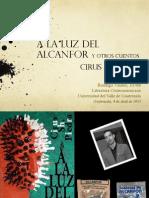 Rodrigo Valdés, presentación sobre Cirus Piedra A la luz del alcanfor