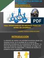 Oportunidad de Negocio Para Las Mypes en Apurimac