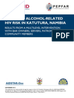 REDUCING ALCOHOL-RELATED HIV RISK IN KATUTURA, WINDHOEK, NAMIBIA