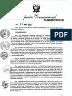 Rvm 025- Declarar Improcedenet La Solicitud de Retiro de Condicion Formulado Por Constructora e Inmobiliaria Bacilio Lopez y Por Rufina Cangana Ycorde