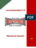 PerformanceGym Manual de Usuario