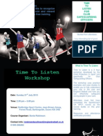 Time to Listen Flyer 21 July 2013