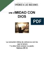 1. Intimidad Con Dios