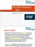 Uttaranchal Joint Entrance Test