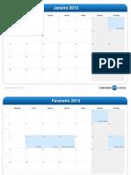 calendário mensal-2013