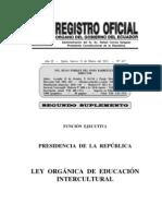 RO LEY DE ECUCACIÓN INTERCULTURAL
