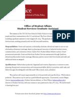 Price Graduate Assistant Job Description